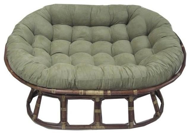 Cushion For Oversize Double Papasan, Emerald.