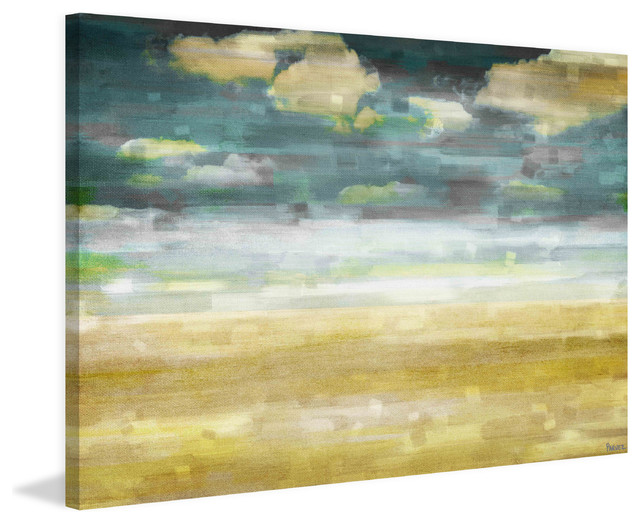 """distant Sands"" Print On Canvas, 60""x40""."