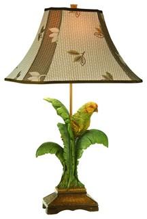 Coastal Kathy Ireland Tropical Parrot Table Lamp