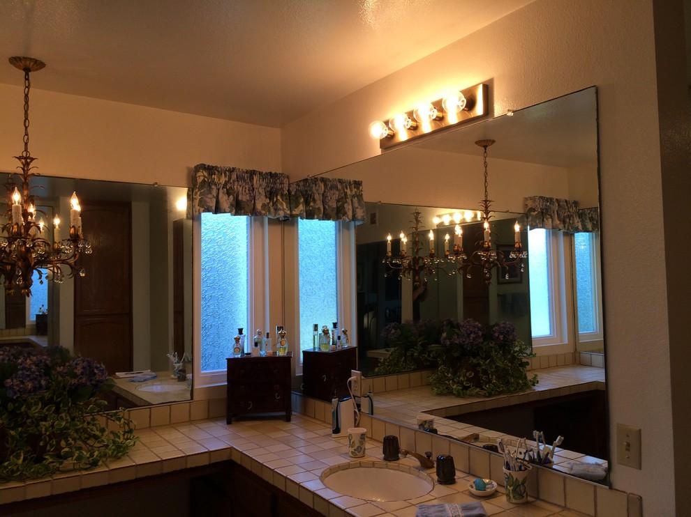 Before:  Old vanity, existing openings.