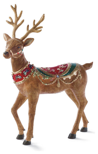 fiber optic head up reindeer frontgate outdoor christmas decorations - Christmas Reindeer Decorations