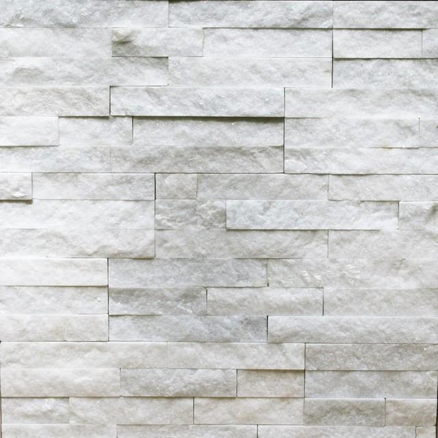 Natural Ledgestone Wall Panel Canyon White Contemporary