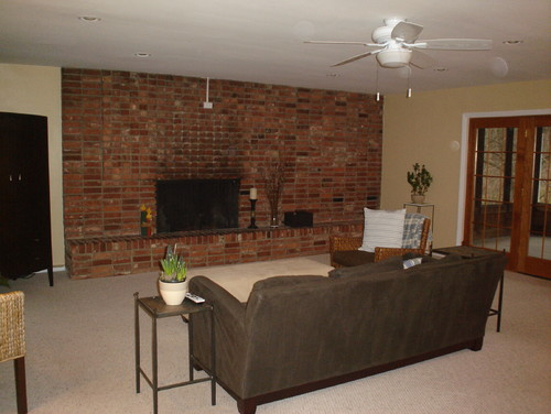 Need help with brick wall and fireplace