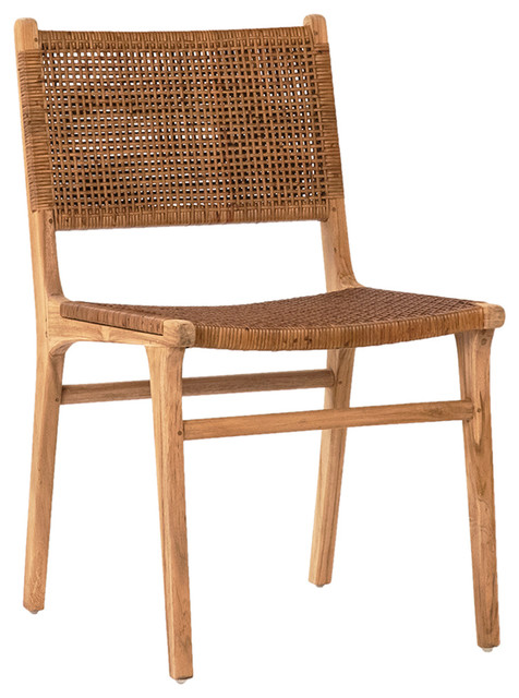 Pleasing Modern Teak And Wicker Dining Chair Andrewgaddart Wooden Chair Designs For Living Room Andrewgaddartcom