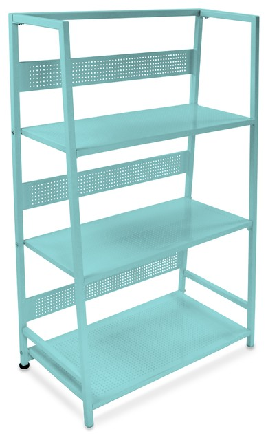 Dandy 3 Tier Folding Shelf Contemporary Office Carts And Stands