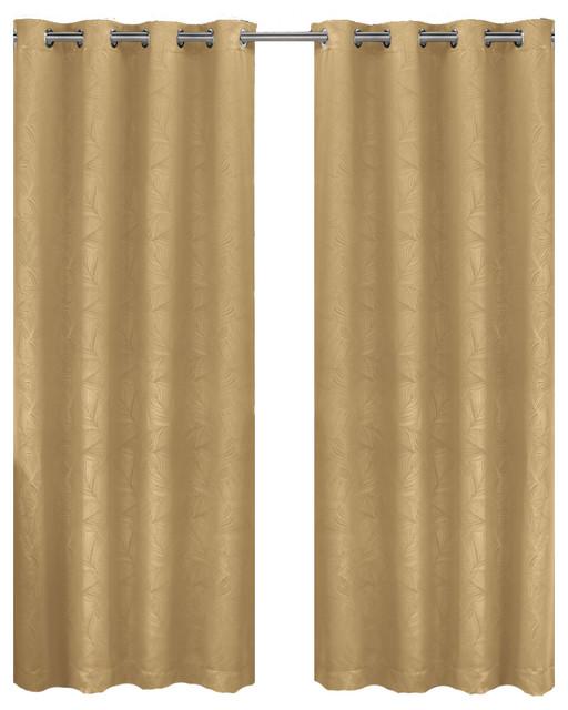 Prairie Blackout Weave Embossed Grommet Curtain