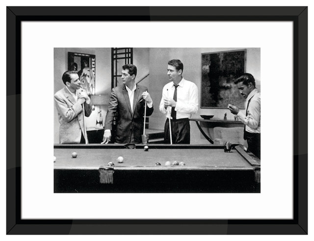 The Rat Pack Play Pool Framed Print 84x64 Cm