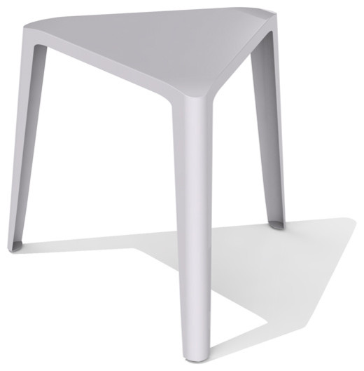 Clic Contemporary Furniture | Arktura Clic Low Stool Aviator Gray Contemporary Accent And