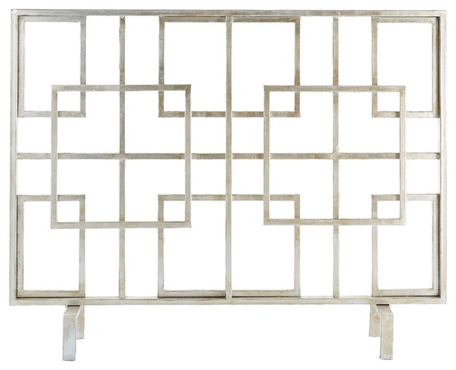 Squares Fire Screen, Antique Finish.