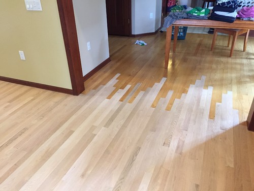Stain color for red oak floors for Natural red oak floors