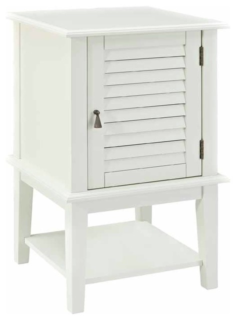 Powell Furniture Shutter Door Table White Side Tables