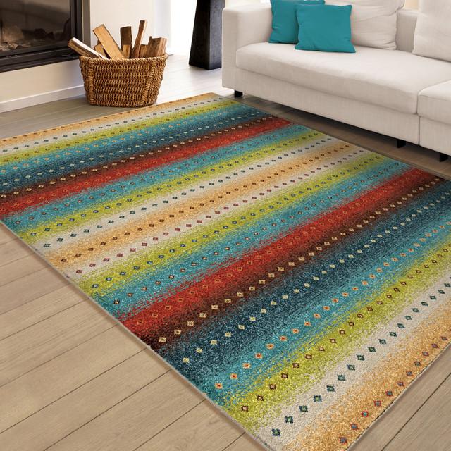 """Ponte Villa Indoor/outdoor Rug, Multicolor, 7&x27;8""""x10&x27;10""""."""
