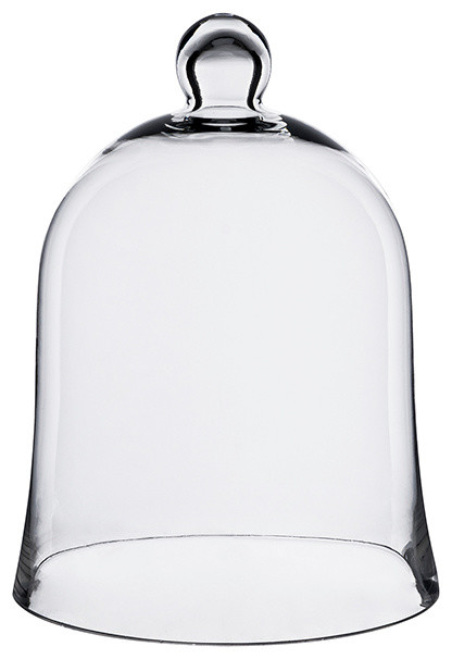 Glass Cloche Bell Jar, Plant Terrarium Dome, Pack of 2