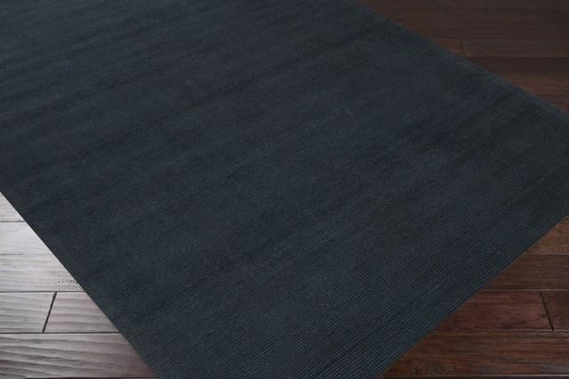 Surya Mystique M340 Black Tone on Tone Area Rug, Rectangular 12'x15'