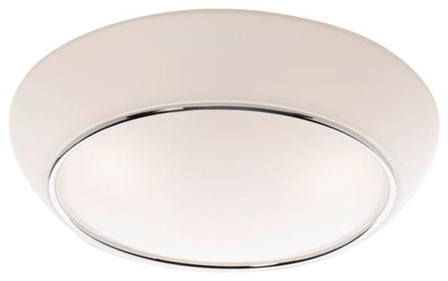 Progress Lighting Riverside Collection 4 Light Heirloom: Chrome Flush Mount Lighting