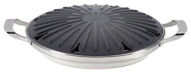Hard Anodized Nonstick 12 Round Stovetop Grill With Accessories