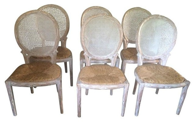 Incroyable Italian Faux Bois Dining Chairs   Set Of 6