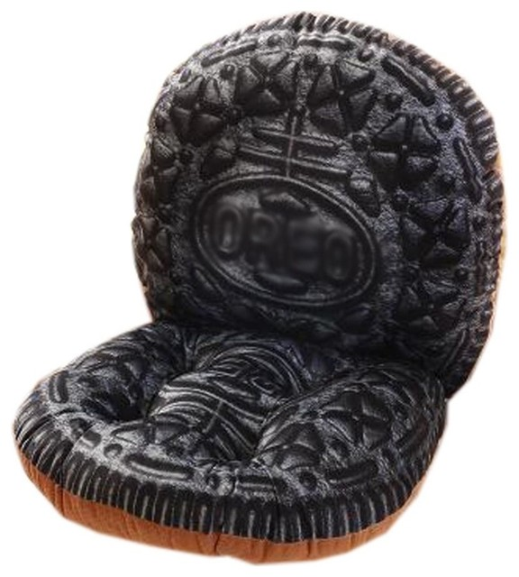 Indoor Soft Home Office Seat Chair Cushion With Backrest Oreo1 Modern Seat Cushions By Blancho Bedding