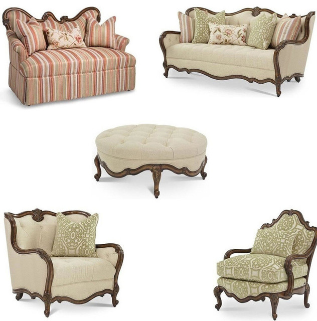 Lavelle melange living room set 5 piece set traditional for 5 piece living room set