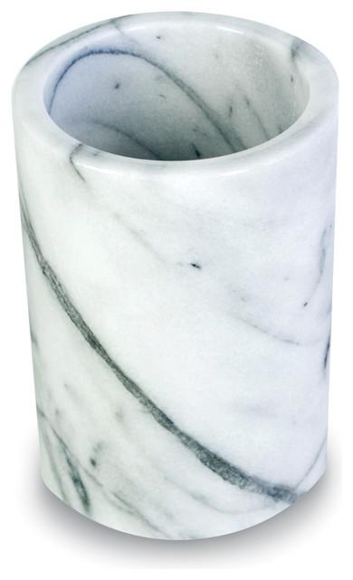 White Marble Utensil Holder.