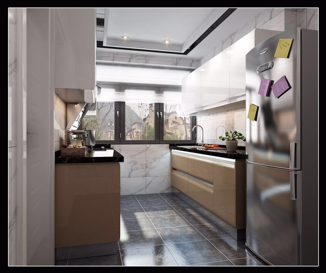 Modular Kitchen   4 room HDB BTO flat modern kitchen cabinets. Modular Kitchen   4 room HDB BTO flat