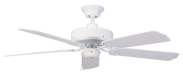 Concord Fans Nautika 52 White Ceiling Fan - 52na5wh.