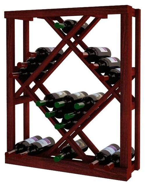 Tatum Wine Rack, Redwood And Mahogany.