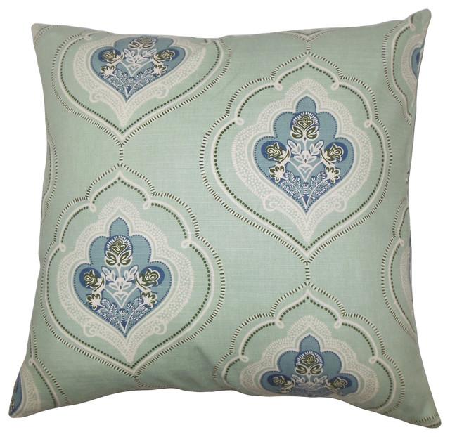 The Pillow Collection Jaleh Coastal Bedding Sham Blue Green King//20 x 36