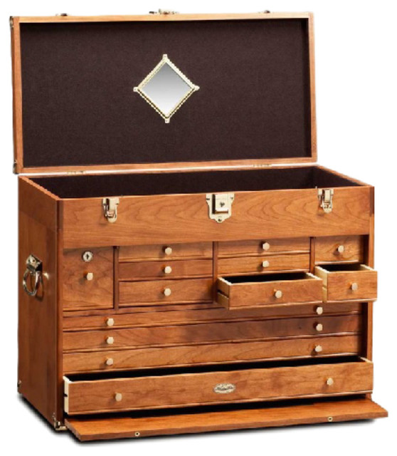 Cherry Wood Chest ~ Wood chest cherry traditional accent chests and
