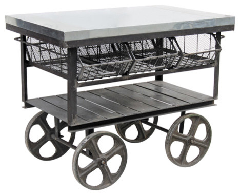 Factory Station Cart, Hand Finished.