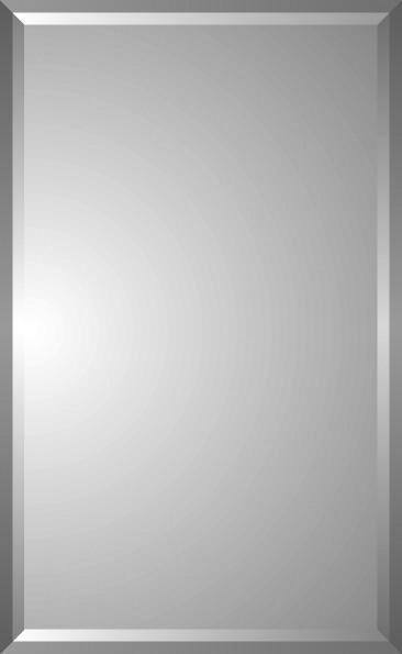 "Aldebaran Diamond Cut Double Bevel Medicine Cabinet, 16""x26""."