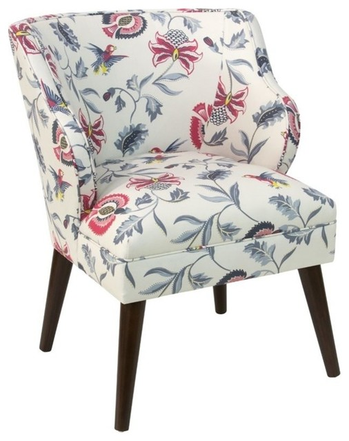 Skyline Furniture Upholstered Accent Chair, Jacobean Bright Multi