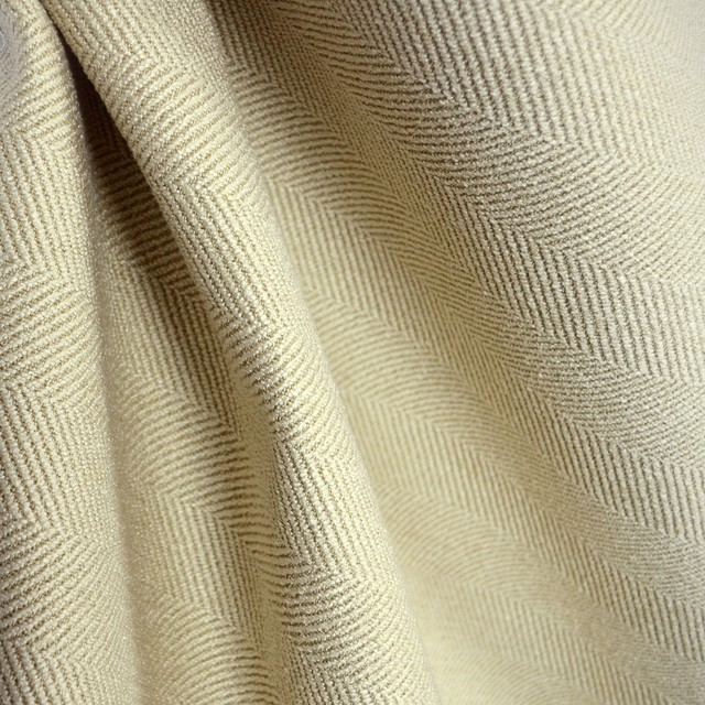 Jumper Oatmeal Herringbone Upholstery Fabric Traditional Drapery