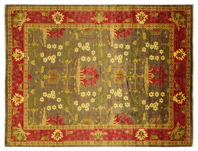 Green Area Rugs Shabby Chic French Aubusson Rug Subtle
