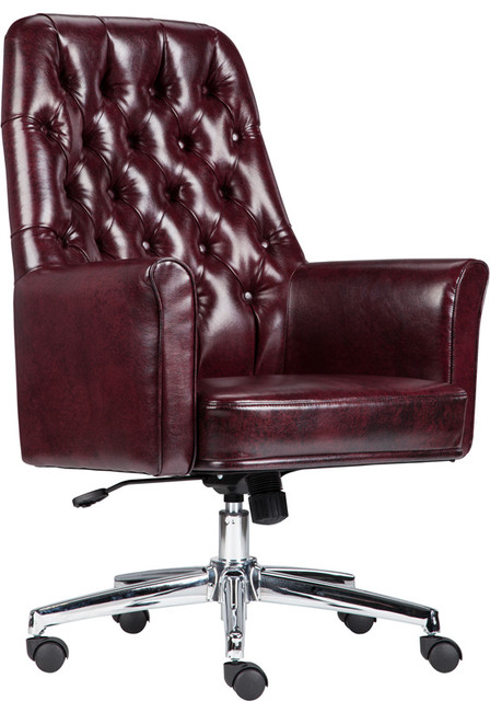 Incredible Beautiful Mid Back Traditional Tufted Leather Executive Chairs Red Download Free Architecture Designs Osuribritishbridgeorg