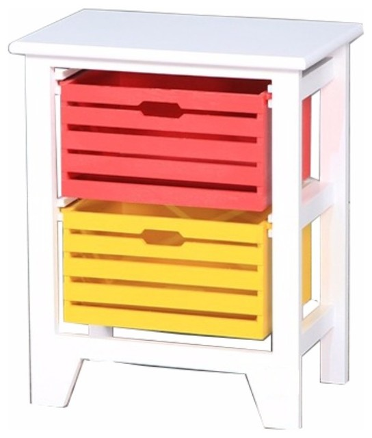 Vibrant 2-Tier Storage Cabinet, White.