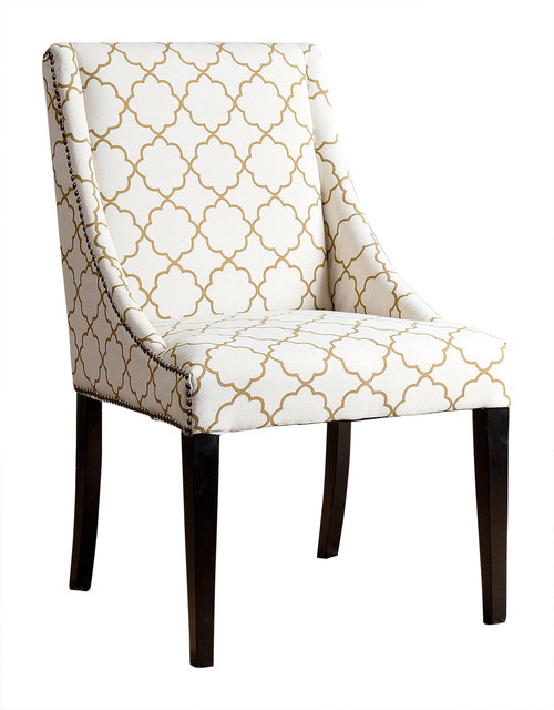 Groovy Abbyson Living Maddie Swoop Dining Chair Gold Lattice Ibusinesslaw Wood Chair Design Ideas Ibusinesslaworg