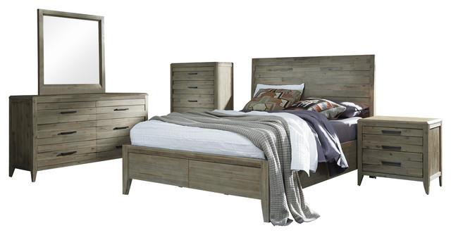 Harbourside Horizontal Slat Panel Bed, King.