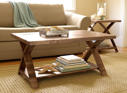 Rustic X Coffee Table L.l. Bean