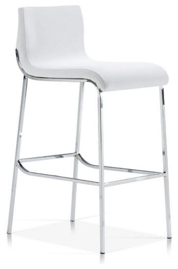 Tijuca Stool White Counter Seat Height 26
