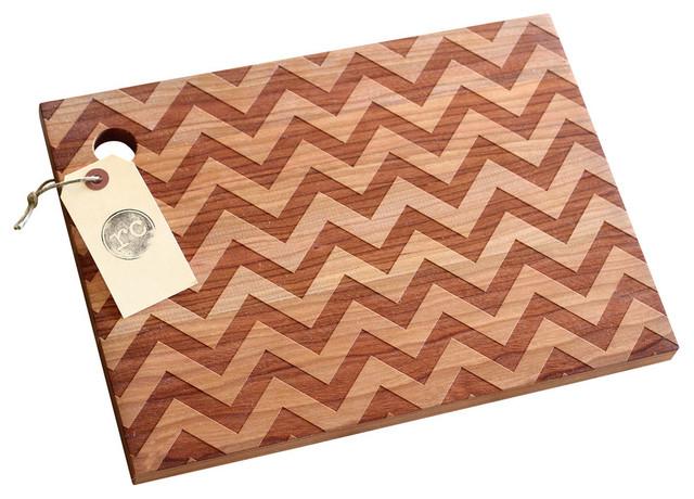Wood Chevron Cutting Board Modern Cutting Boards by Richwood