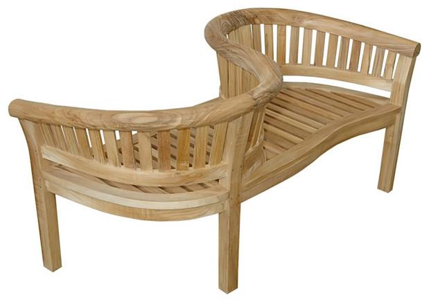 anderson teak patio lawn garden furniture curve love seat 59x28x32 transitional - Garden Furniture Love Seat