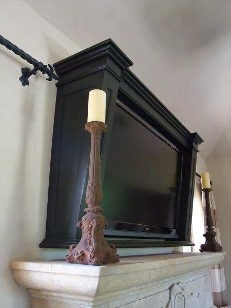 Flat Screen Tv Frame Traditional Phoenix By Agape Wood Design