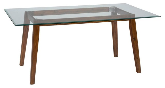 "60 Rectangular Glass Top Dining Table: 72"" Rectangular Dining Height Table With Glass Top"