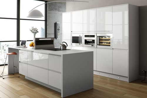 White Kitchen No Handles door handle ideas for white gloss kitchen?