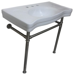 industrial bathroom sink fauceture vitreous basin with stainless steel pedestal 13232