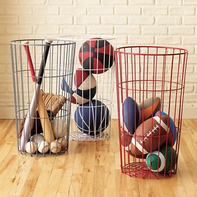 Kids Flea Market Wire Ball Bins modern-toy-organizers