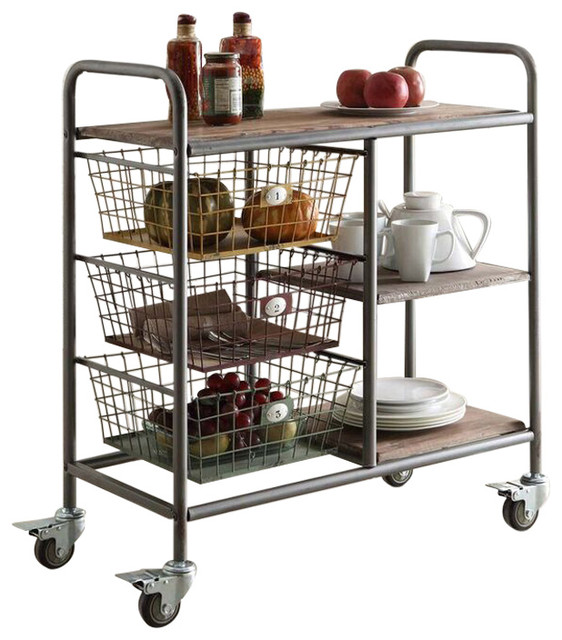 Industrial Kitchen Trolley: Urban Collection Kitchen Trolley