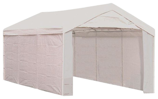 "10&x27;x20&x27; Canopy, 1-3/8"" 8-Leg Frame, White Cover, Enclosure Kit."
