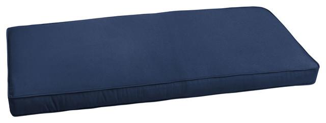 Amazing Sunbrella Canvas Navy Blue Outdoor Bench Cush 42X20 Cjindustries Chair Design For Home Cjindustriesco